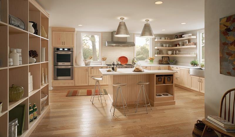 Lát sàn gỗ cho nhà bếp 1